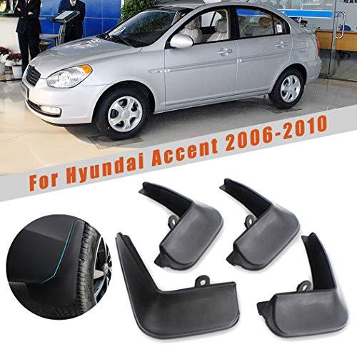 Car Mudguards for Hyundai Accent 2006-2010 Car Mudguards Fender Splash Guards Mud Flaps Accessories Front and Rear Set of 4pcs