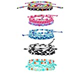 15 pcs Friendship Bracelets for Kids, Cute Adjustable Beaded Bracelets for Teen Girls Birthday Christmas Halloween Valentine Party Favors Kids Jewelry for Girls
