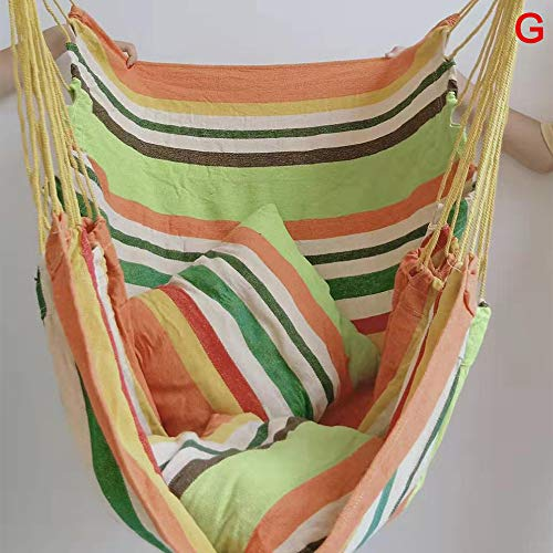 Hammock Chair Large Hanging Chair Swing Seat Detachable Hanging Swing Chair for ravel Camping Indoor or Outdoor Garden Yard Theme Decoration(G)