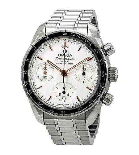 Omega Speedmaster cronografo automatico quadrante argento uomo orologio 324.30.38.50.02.001