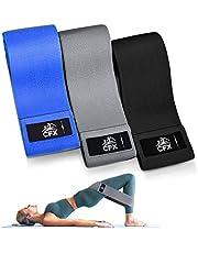 CFX Resistance Hip Bands, fitnessbandenset, yogagordel in 3 treksterktes, trainingsband, yogaband als weerstand en ondersteuning voor beentraining, krachttraining en pull-ups