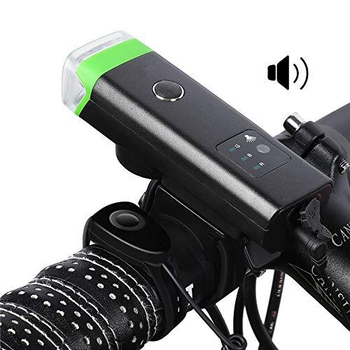 yywl Bike Licht, Fietslampen Fiets Voorlicht Intelligente Sensor Led Zaklamp Usb Lading Waterdichte Bike Koplamp Met Hoorn Fietslamp