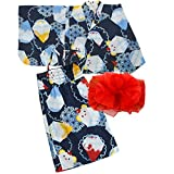 [キャサリンコテージ] 花火大会 夏祭り夏休み セパレートタイプ 2部式浴衣 女の子 WB002 XS(90-100cm) かき氷[G] TAK