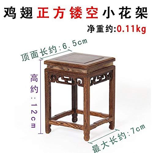 don997gfoh08yewi Yaxuanzhai rode kunstbasis, kippenvleugel houten basis steen basis bloempot basis stand6.5 * 12cm