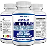 Simply Potent Daily Multivitamin for Men, 35 Vitamin, Mineral & Antioxidant Blend Supplement with Vitamins C, B-Complex & Saw Palmetto for Immune System, Energy, Focus & Prostate Health, 60 Capsules