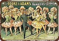 金属ブリキサイン1906銀行家とブローカー音楽コメディビンテージルック再生壁装飾UF細胞によって