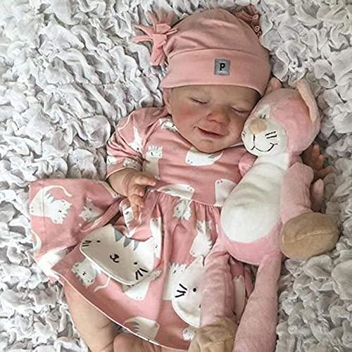 ERZU Reborn Baby Doll Boy: 21 Inch Lifelike Realistic Newborn Soft Handmade Silicone Weighted Baby Dolls That Look Real, Real Life Realistic Newborn Baby Dolls For Kids Boy Girl Age 3+