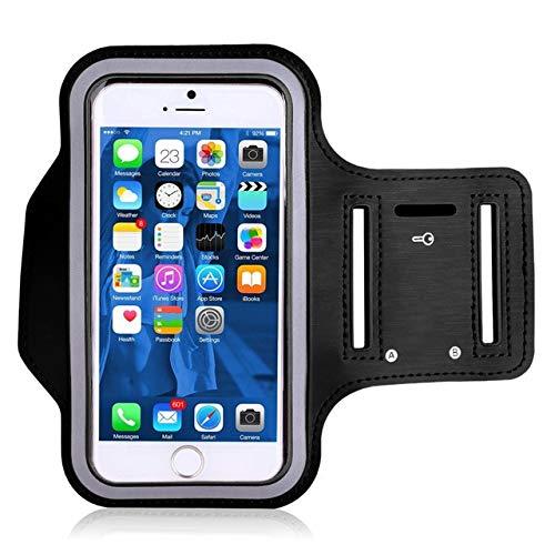 YDFSBB Fascia da Braccio per Sport da Palestra Impermeabile per iPhone 8 7 4 5 5S 5C Se 6 6S 8 Plus X XS Max XR Custodia per Telefono Custodia Cover per BraccioNero