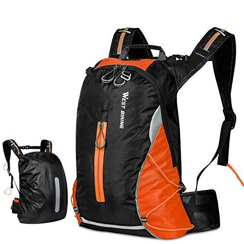16L Waterproof Cycling BackpackMountain Bike Accessories for Men Breathable Lightweight Running Rucksack Cycling gifts for men Daily Commutes Jogging HikingSkiing Trekking with Rain Cover