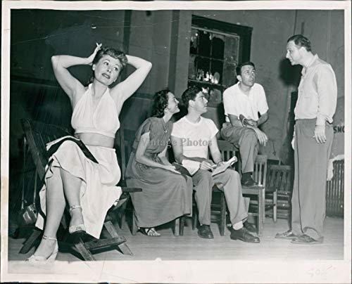 clásico Fotos 1949 Actriz Vicki Cummings Geoge Somnes Petrie Eugene Francis 8 x 10