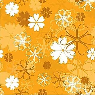 QTH Light Orange Design Wall Sticker (70cm x 50cm)