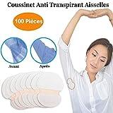 StillCool Coussinet Anti Transpirant, 100 Pièces Patchs de Transpiration Lingette Jetables Protège Aisselles