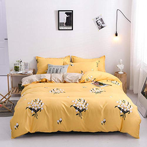 GYKLY Bettbezug Bettwäsche Set Weißer Strauß Bettwäsche Set Atmungsaktiv Flauschige,,220X240cm(87X94inch)