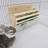 Absir Kaninchen-Heuraufe aus Holz für Chinchilla,...