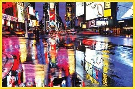 Madera DM - Ventana con Vistas Al Horizonte 1art1 Nueva York P/óster con Marco 91 x 61cm