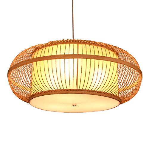 LQQZZZ Araña Tejida De Bambú, Colgante De Ratán Circular Creativo, Retro Pastoral Araña Simple Sin Deformación Sin Olor Peculiar Usado En La Cocina Sala De Estar
