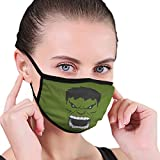 Dark Green Expression Pattern Design Half Face Mundmaske Gesichtsmasken Anti-Staub-Gesicht und Nasenschutz Cool Soft Windproof Ski Mo