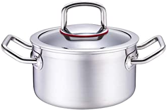 SHYPT Stainless Steel Stockpot Soup Pasta Pot with Lid, Double Heatproof Handles, Non Toxic & Healthy, Easy Clean & Dishwa...