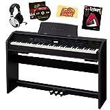 Casio Privia PX-780 - Set di pianoforte digitale a 88 tasti, con cuffie, libro didattico e panno per la pulizia, colore: Nero