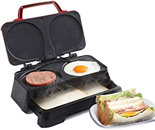 Totasters sandwich Gaufrier à double fente, grille-pain à sandwich chaud, presse à panini, poêle à bifteck grillé électriq...