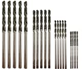 Diamond Drill Bit Set 20 Pieces 4 Sizes 1mm 1.5mm 2mm 2.5mm Twist Tip Jewelry Beach Sea Glass Shells Gemstones Lapidary