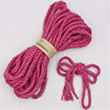 Gather together 5mm 2meter Rose Red DIY Cat Scratching Rope Cat Tree Cat Climbing Frame Replacement Rope Making Desk Legs Binding Rope Cat Sharpen Claw 5mm