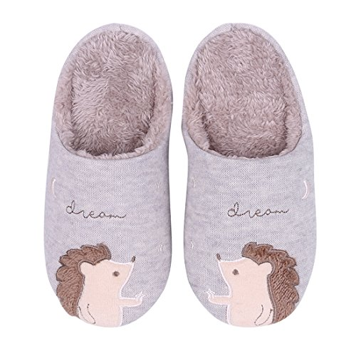 Fuzzy Hedgehog Slippers for Women