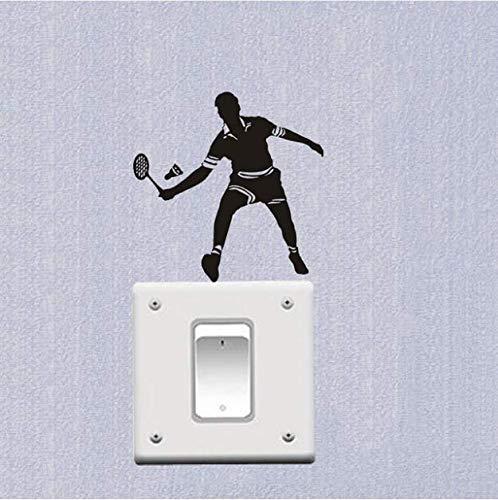 Chi Wall Sticker 3Pcs Badminton Player Mode Vinyl Schalter Aufkleber Wandaufkleber