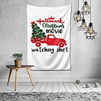 クリスマストラックタペストリー壁掛けアートタペストリーホームリビングルーム寮の装飾60X40インチ