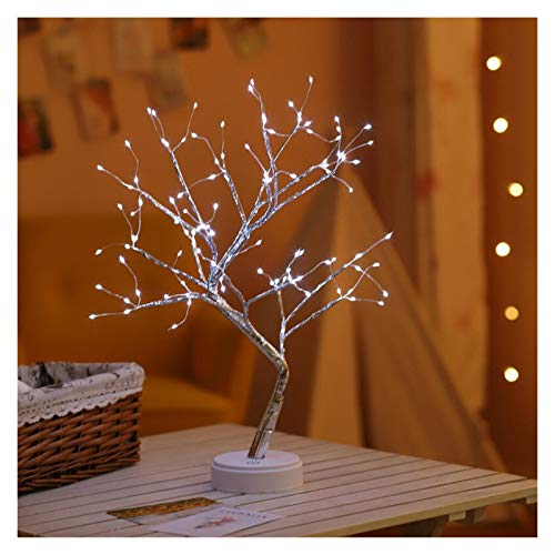 JSJJAWD Table lamp LED Night Light Christmas Tree Copper Wire Garland Lamp (Emitting Color : 108leds white)