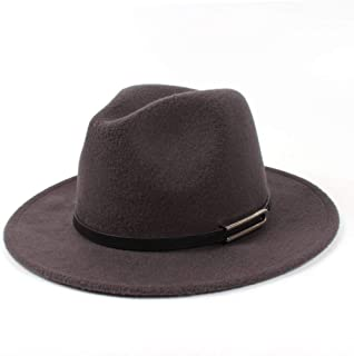 SHENTIANWEI Men Women Authentic Wool Fedora Hat Dance Party Hat Casual Wild Hat Panama Hat Size 56-58CM