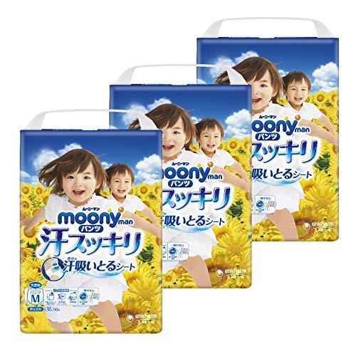 【パンツ Mサイズ】ムーニーマン 汗スッキリ 男女共用 オムツ(6~12Kg)168枚
