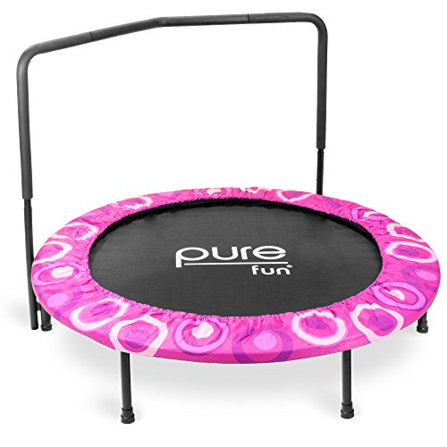 Pure Fun 9008SJ Super Jumper Kids Trampoline with Handrail, Pink - 48 Inches
