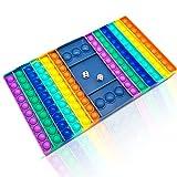 Big Scacchiera Popit Fidget Toy XXL,12.59''*7.48'' Big Fidget Toy, Antistress per Esigenze Speciali di Autismo Giocattoli per Alleviarel'ansia, estrusione per Adulti e Bambini with 2X Dice(scacchiera)