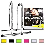 Lebert Fitness Equalizer Bars Total Body Strengthener, XL, Frank Medrano Signature, Chrome