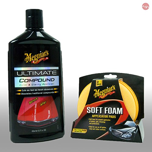 Preisvergleich Produktbild MEGUIAR'S_bundle Meguiars Lackreiniger Autopolitur Ultimate Compound + Soft Foam Applicator Pads