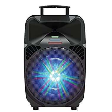 IQ-Sound IQ-5312DJBT 12  Woofer Portable Bluetooth Powered PA Tailgate Party Rechargeable Speaker With Illuminating Lights | akoustiq
