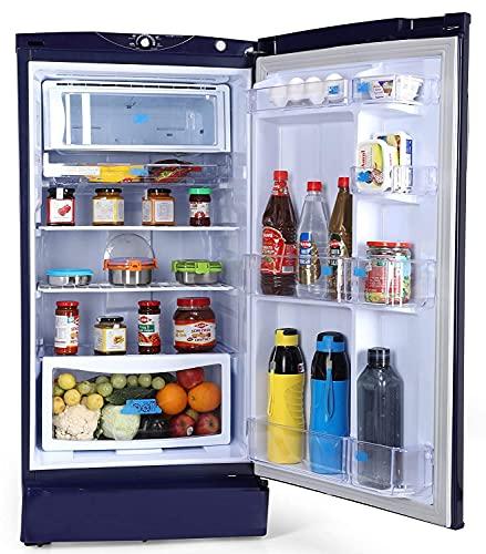 Godrej 190 L 3 Star Inverter Direct-Cool Single Door Refrigerator (RD 1903 EWHI 33 STL BL, Steel Blue, Inverter Compressor)