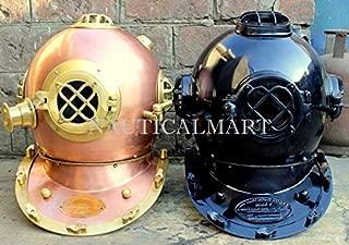 NauticalMart Set of 2 Scuba Diving Divers Helmet Us Navy Mark V Diving Helmet