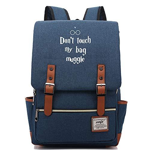 NYLY Teenage Junior High School Student Bag Mochila para niños Harry Potter Ligero Impermeable Oxford Cloth Rucksack Grande Armada C