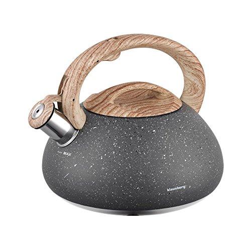 Klausberg Marmor Edelstahl Flötenkessel Teekessel Wasserkessel 2.7 Liter KB-7250