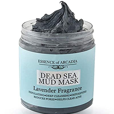 Dead Sea Mineral Mud Mask Scented with Lavender - 100% Natural Minerals - Minimize Pores, Remove Blackheads, Reduce Acne and Wrinkles for Men and Women, a Visibly Healthier Complexion (8.8 oz/250 gr) from Essence Of Arcadia
