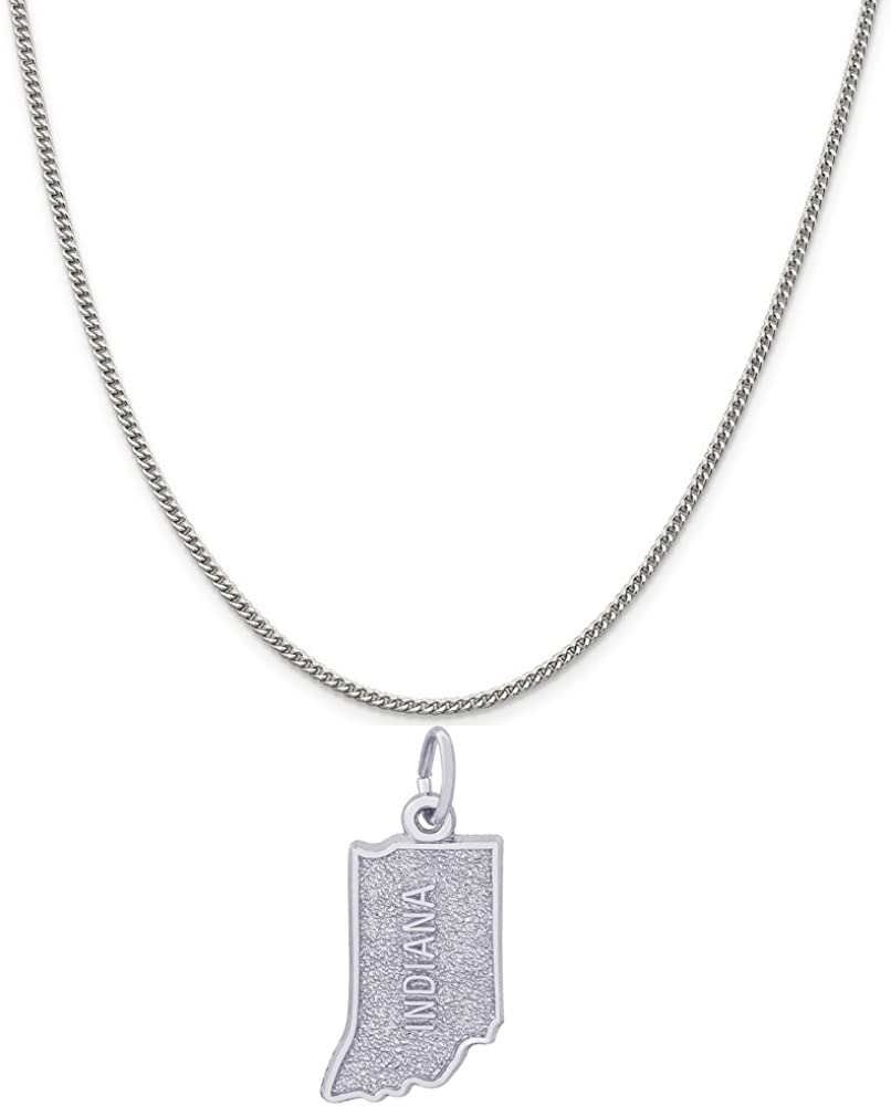 Rembrandt Charms Sterling Silver Indiana sold out Max 49% OFF Charm 20 a on 16 18 or