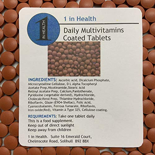 60 x Daily Multi Vitamins - Coated Tablets - Immune System Super Food - Boost Your Immune System - Grip Sealed & Healthy Fresh - Fast & Free Same Day Dispatch