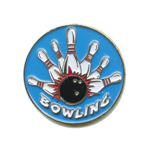 Bowling Kegeln Bowlen Pin Kegel Kugel Metall Button Badge Pin Anstecker 0133