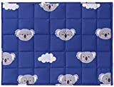 Joyching Weighted Lap Pad for Kids 20 x 30 inches, 3lbs 600TC Egyptian Cotton Weighted Blanket for Reading with Glass Beads Blue Koala