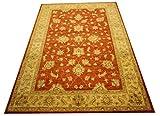 Ziegler Pakistán - Alfombra (267 x 183 cm, 100% lana, tejida a mano), diseño oriental