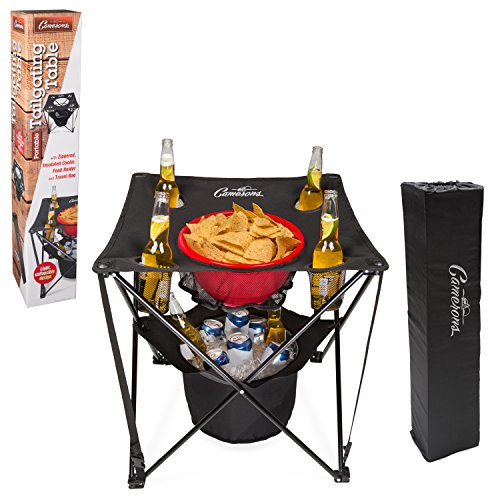 Tailgating Table- Collapsible Folding Camping Beach Table with Insulated...