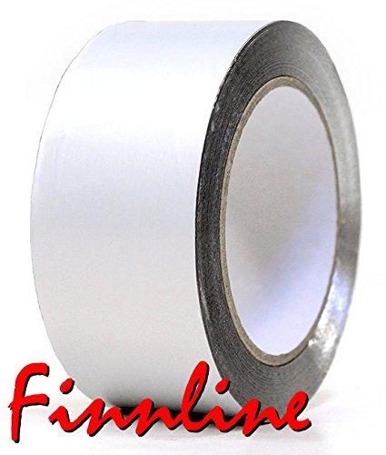 Weigand Aluminiumklebeband 10 m lang, 70 mm breit I bis 140°C hitzebeständig I Saunabau I Sauna I...