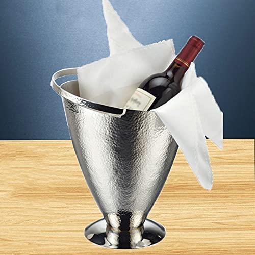 AQAQ Cubiteras para Botellas Martillado 1.5L, KTV Bar Ice Cube Beer Bucket Snack Cup, Ideal para Fiestas